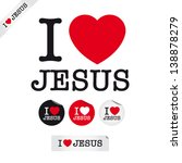 I Love Jesus  Font Type With...