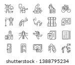 solo traveler line icon set.... | Shutterstock .eps vector #1388795234