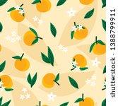 orange fruit with orange... | Shutterstock .eps vector #1388799911