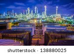 landscape of oil refinery...   Shutterstock . vector #138880025