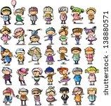 cute cartoon kids | Shutterstock .eps vector #138880571