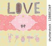 romantic card in vector. love... | Shutterstock .eps vector #138881369