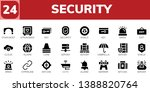 security icon set. 24 filled... | Shutterstock .eps vector #1388820764