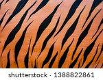 tiger stripes painted on the... | Shutterstock . vector #1388822861