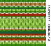 Seamless Knitted Pattern. Styl...