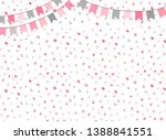 Cute Vector Background In Pink...
