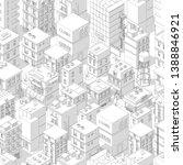 buildings city seamless pattern....   Shutterstock .eps vector #1388846921