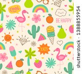 cute hand drawn doodle elements ...   Shutterstock .eps vector #1388855954