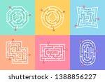 labyrinth shape design element. ... | Shutterstock .eps vector #1388856227