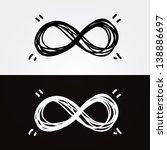 vector hand draw infinity....   Shutterstock .eps vector #138886697