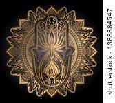 magic talisman hamsa religion... | Shutterstock .eps vector #1388884547