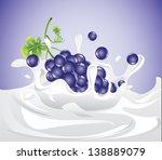 grapes splashing in milk  eps 10 | Shutterstock .eps vector #138889079