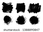 brush strokes. vector... | Shutterstock .eps vector #1388890847