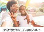 happy young mother having fun...   Shutterstock . vector #1388899874