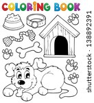 coloring book dog theme 2  ... | Shutterstock .eps vector #138892391