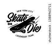 skateboarding t shirt design.... | Shutterstock .eps vector #1388963711