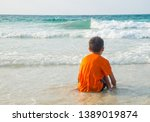 asian boy living alone at the... | Shutterstock . vector #1389019874