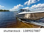 Boat Launch On Lake Water From...