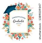 graduate class of 2019. caps... | Shutterstock .eps vector #1389039347