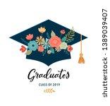 graduate class of 2019. caps... | Shutterstock .eps vector #1389039407