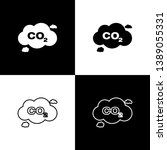 set co2 emissions in cloud... | Shutterstock .eps vector #1389055331