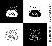 set co2 emissions in cloud... | Shutterstock .eps vector #1389055367