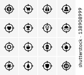 target icons   Shutterstock .eps vector #138908999