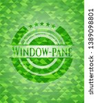 window pane green emblem with... | Shutterstock .eps vector #1389098801