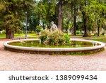 villa borghese gardens with...   Shutterstock . vector #1389099434