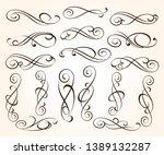 set of elegant decorative... | Shutterstock .eps vector #1389132287