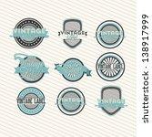 blue vintage tags over grunge... | Shutterstock .eps vector #138917999