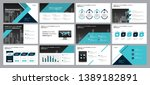 set blue business presentation... | Shutterstock .eps vector #1389182891