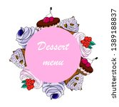 dessert menu. design of... | Shutterstock .eps vector #1389188837