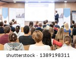 audience at the conference hall....   Shutterstock . vector #1389198311
