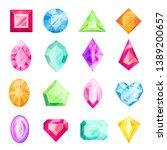 diamond and gemstone set ... | Shutterstock .eps vector #1389200657