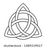 trigurtas celtic knot sign in... | Shutterstock .eps vector #1389219017