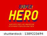 comics style font  alphabet... | Shutterstock .eps vector #1389223694
