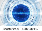 abstract futuristic digital... | Shutterstock .eps vector #1389230117