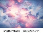 abstract background clouds on... | Shutterstock . vector #1389234644