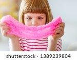 little girl making homemade...   Shutterstock . vector #1389239804