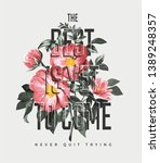 typography slogan with vintage... | Shutterstock .eps vector #1389248357