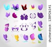 Butterflies Icons   Set  ...