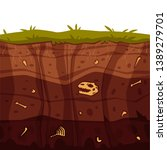 vector soil ground layers with... | Shutterstock .eps vector #1389279701