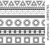 aztec seamless pattern. can be... | Shutterstock .eps vector #138931781