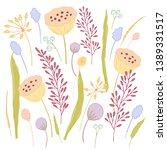 arrangement of dried flowers ...   Shutterstock .eps vector #1389331517