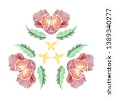 floral pattern with beautiful... | Shutterstock .eps vector #1389340277