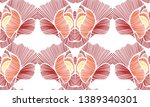 floral seamless background... | Shutterstock .eps vector #1389340301