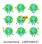 earth planet character set... | Shutterstock .eps vector #1389348437