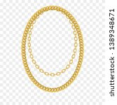 gold chain isolated. vector... | Shutterstock .eps vector #1389348671