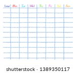 daily  diary and weekly planner ... | Shutterstock .eps vector #1389350117